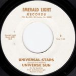 "Label for ""Universal Stars"" by Universe Sun (feat. Sky Saxon) on Emerald Light 8"